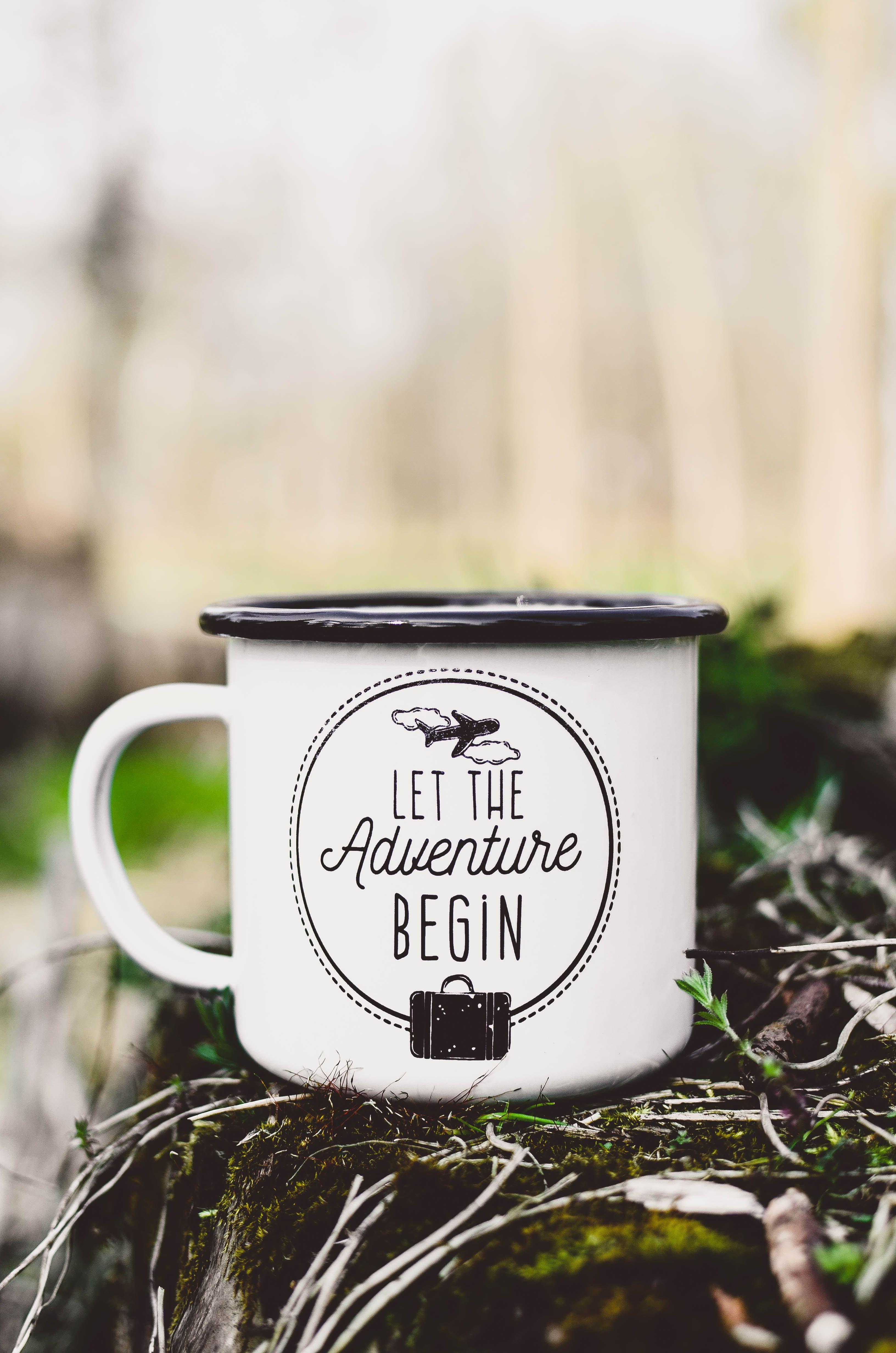 Enamel Adventure Gift Mug Coffee Travel Camping WBdCxreo