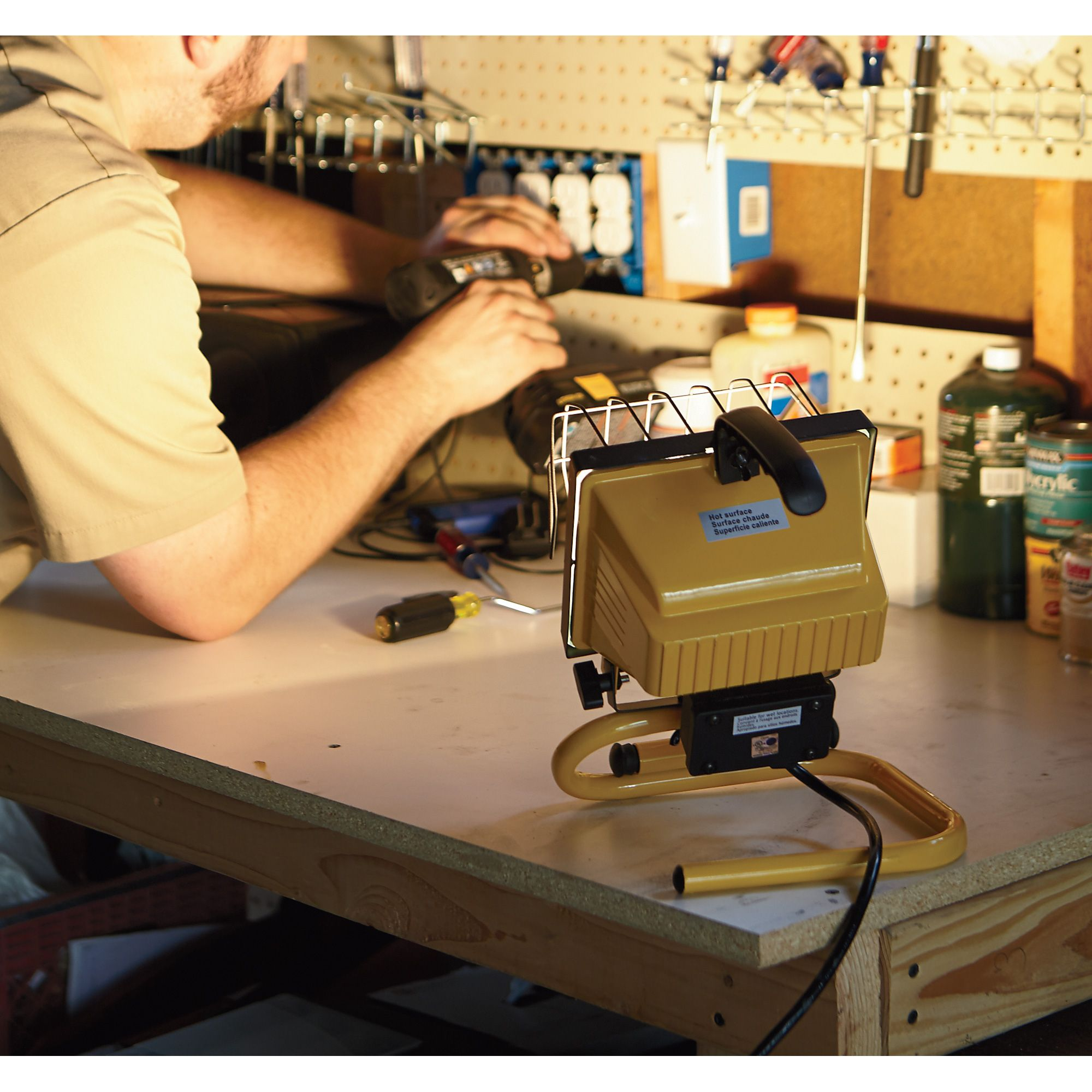 Light Up Your Garage Creatively: Light Up Your Work Space With The Ironton Halogen