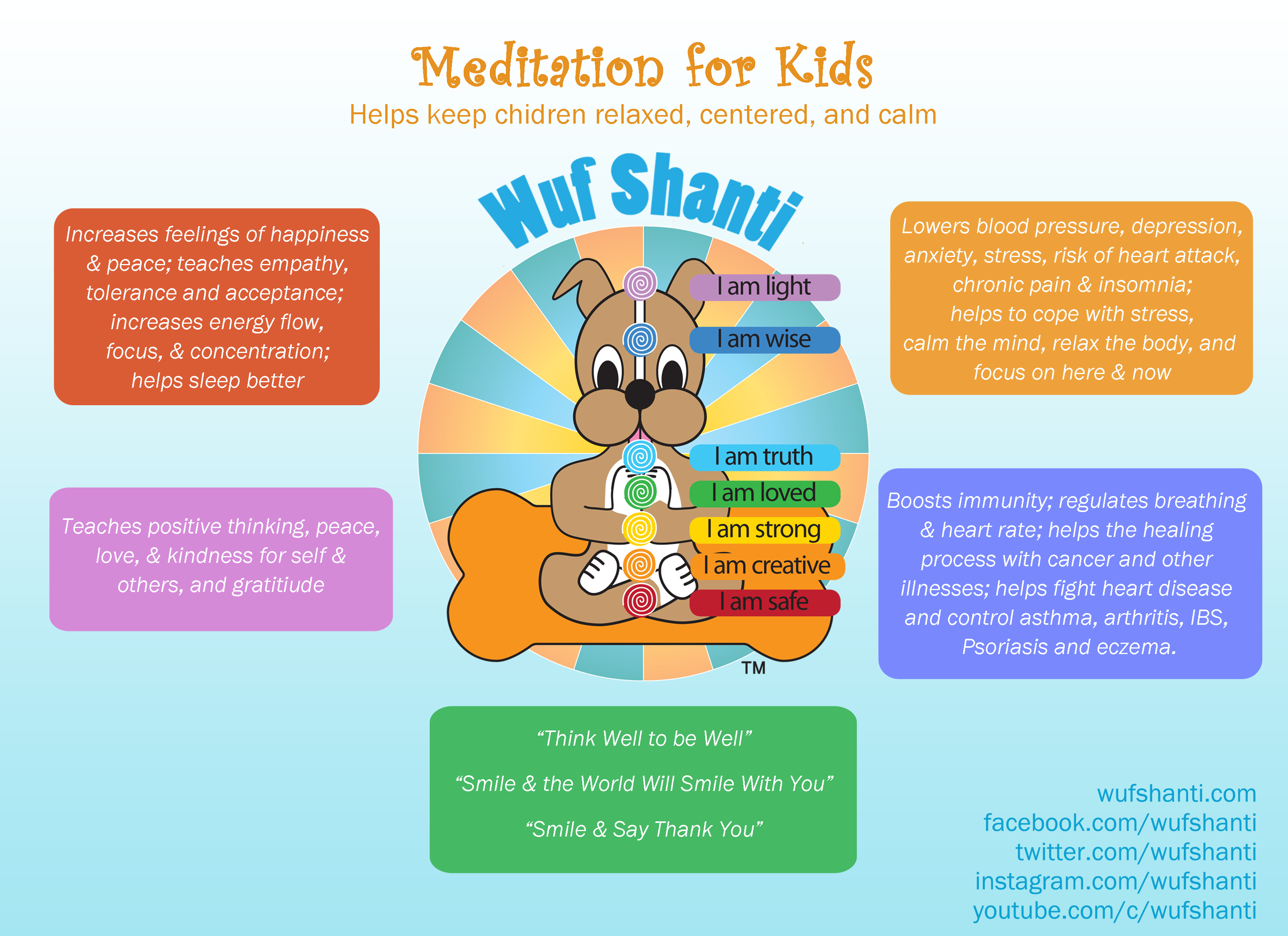 Meditation-for-kids infographic tells health benefits of ...