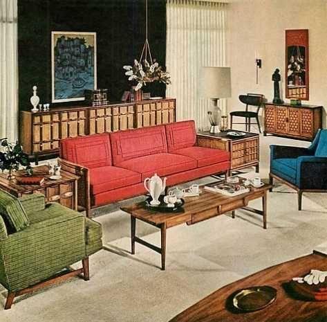 Mid Century Modern Living Room 1961 Mid Century Modern Decor