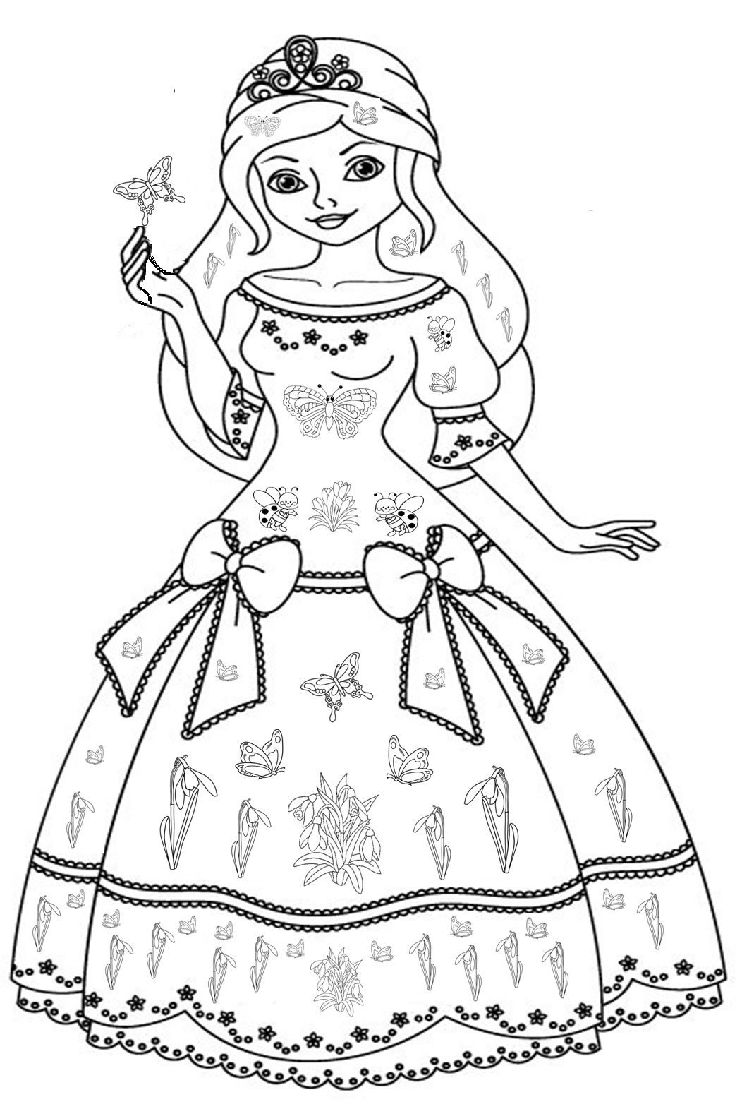 Zâna Primăvara Princess Coloring Pages Princess Coloring