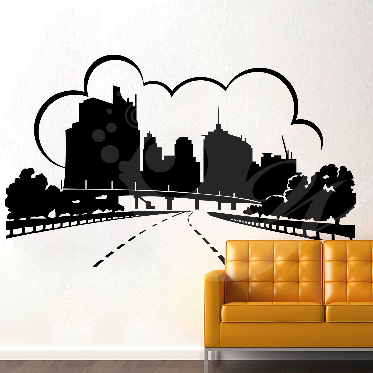 With this Urban City Wall Sticker Decal you can decorate your walls in one of the most modern and elegant ways