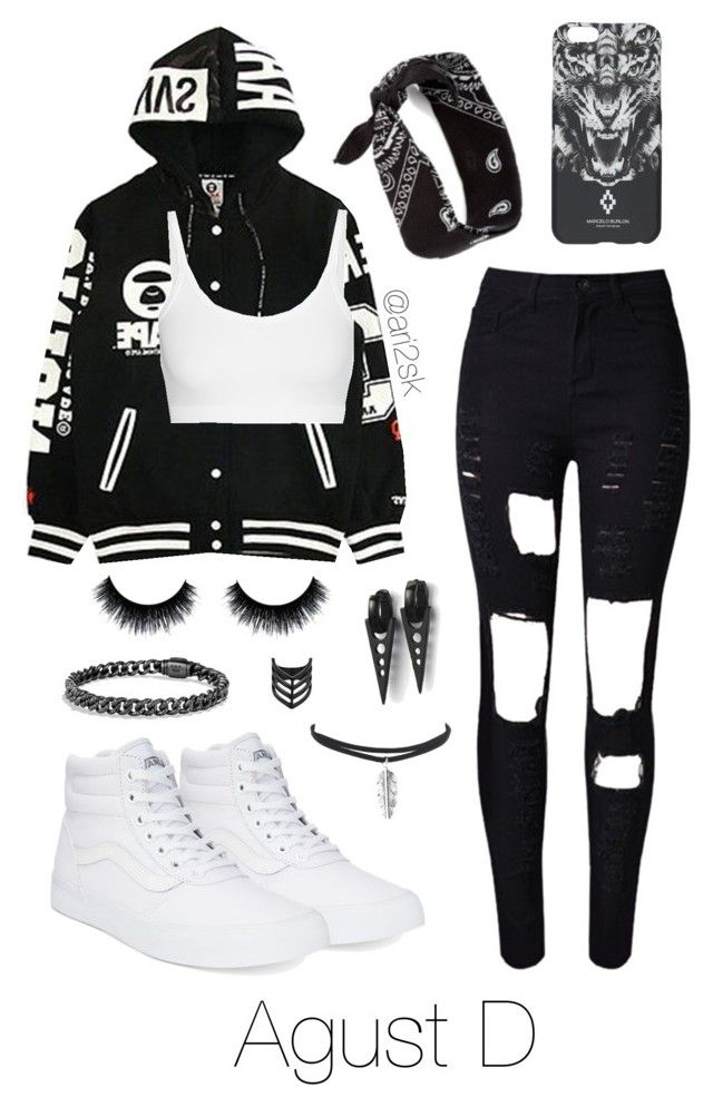 Underground rap concert with Agust D by ari2sk on Polyvore featuring  polyvore, fashion, style, Helmut Lang, WithChic, Vans, County Of Milan,