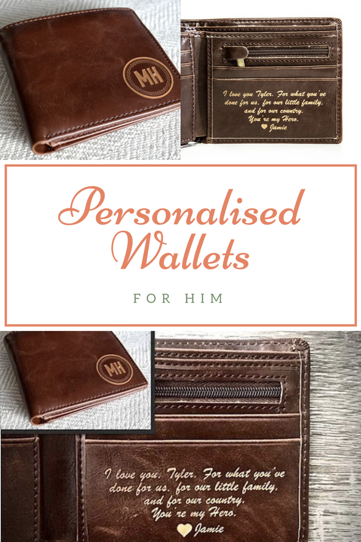 92ebcd1a601d Personalized Wallets For Him. Personalized Mens Wallet - Leather Wallet