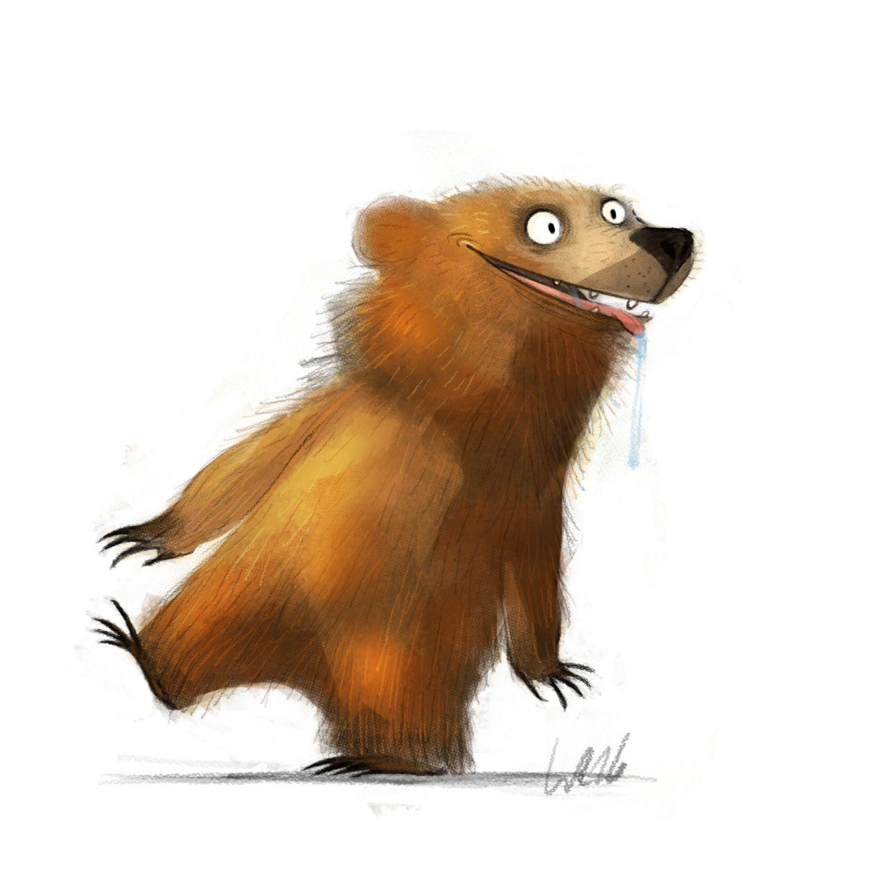 Волос блондинкам, смешные медведи картинки рисованные