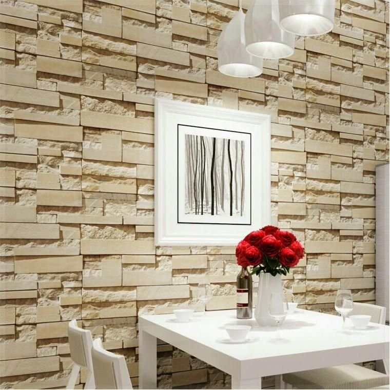 Steinwand Wohnzimmer Grau Holz Kaminofen Benevento Klimex