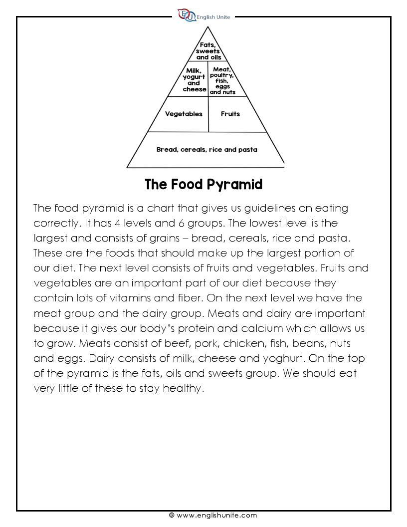 - Short Story - The Food Pyramid (With Images) Short Reading
