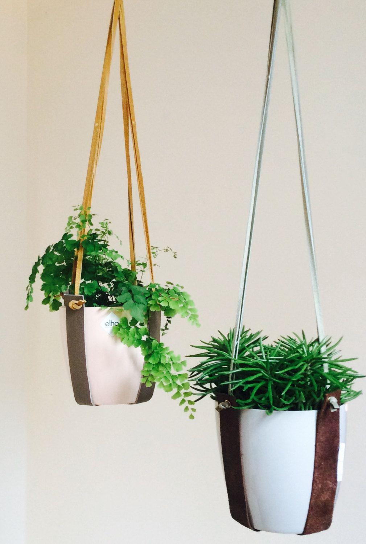 planthanger   bruin   mosgroen  Door studiodoris op Etsy