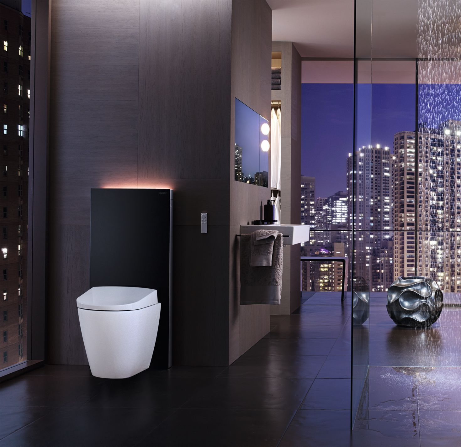 Showertoilet Geberit Aquaclean Sela With Geberit Monolith Have A Look At The Orientation Light Diseno De Banos Modernos Diseno De Banos Banos De Lujo