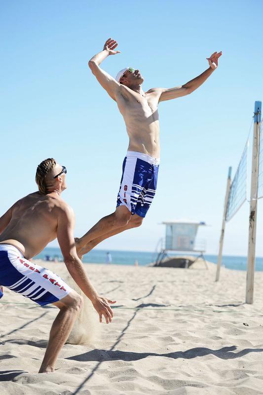 ce899b0cdf Casey Patterson and Jake Gibb sporting the Mizuno Subliminated Men's  Boardshorts