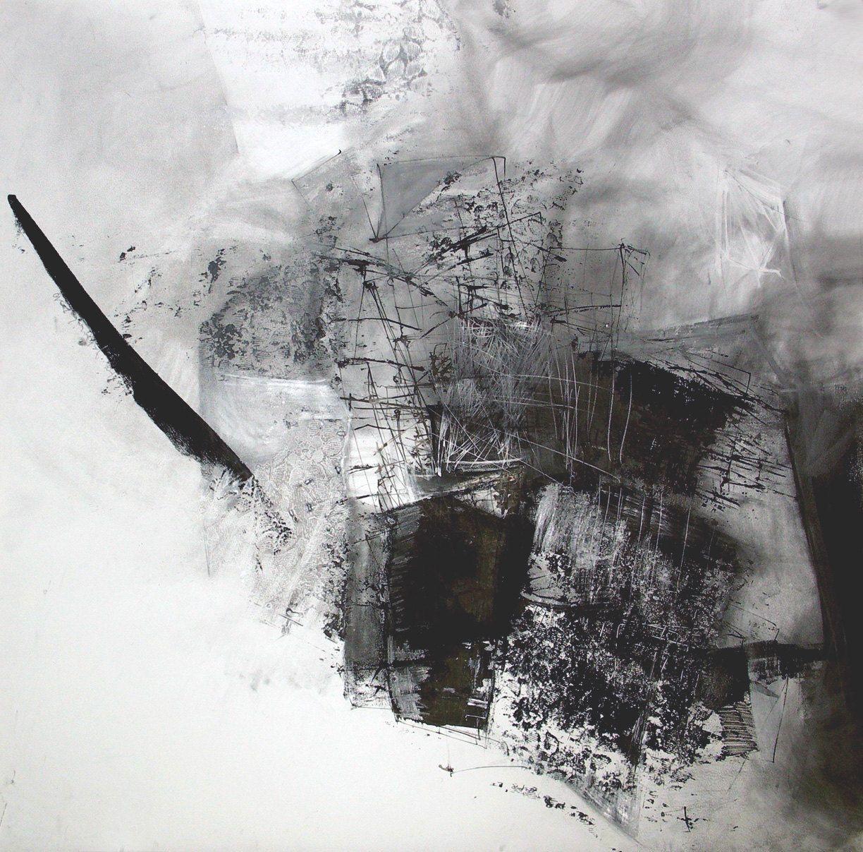 Original Pencil Drawing Abstract Art Black