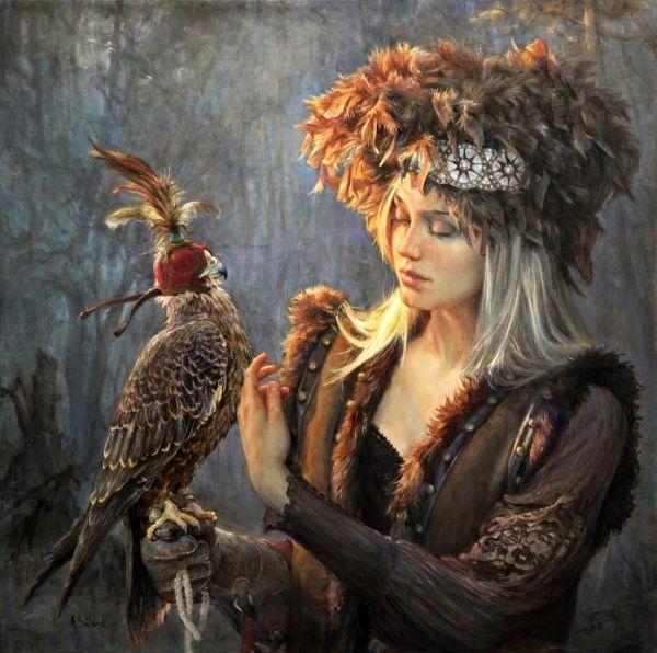 Artist: Helene Beland #oil #figurative #painting