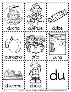 Posters Y Tarjetas De Silabas Iniciales En Palabras Con D En Espanol Abc Worksheets Spanish Handouts Teacher Classroom