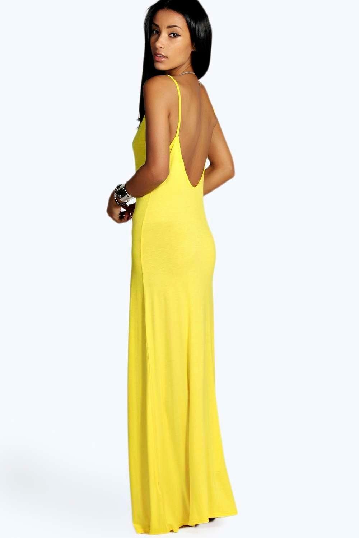 Boohoo Strappy Low Back Maxi Dress Sale Sast twzYwbK