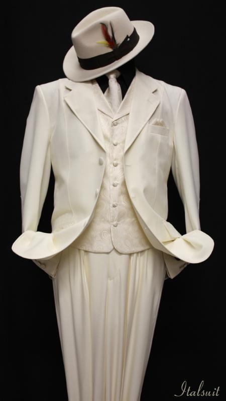 Off-white 3pc Fashion Zoot Suit | White On White | Pinterest ...