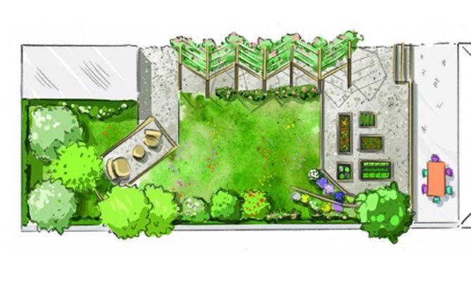 comment am nager un petit jardin tout en longueur jardins pinterest trois jours palier. Black Bedroom Furniture Sets. Home Design Ideas