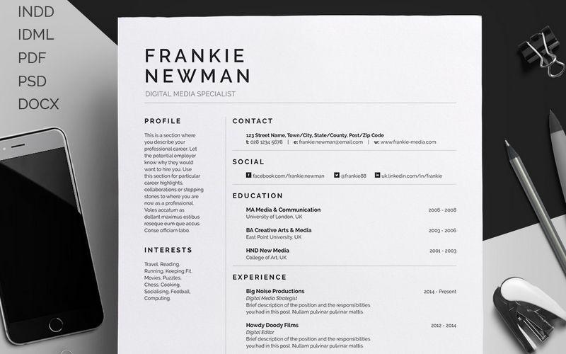 """Professional Resume Design Consultare La Pagina Di Questo Progetto Behance """"Resumecv"""