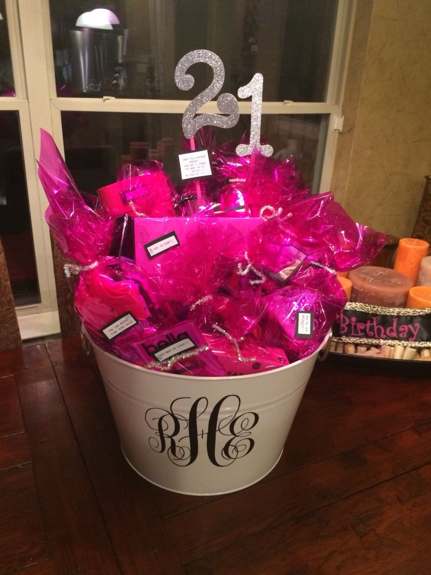 21 Things We Love About You Gift Basket For 21 Year Old