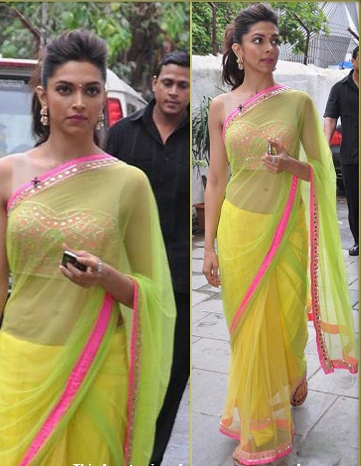 Deepika Padukone Chennai Express Bollywood Replica Saree ...