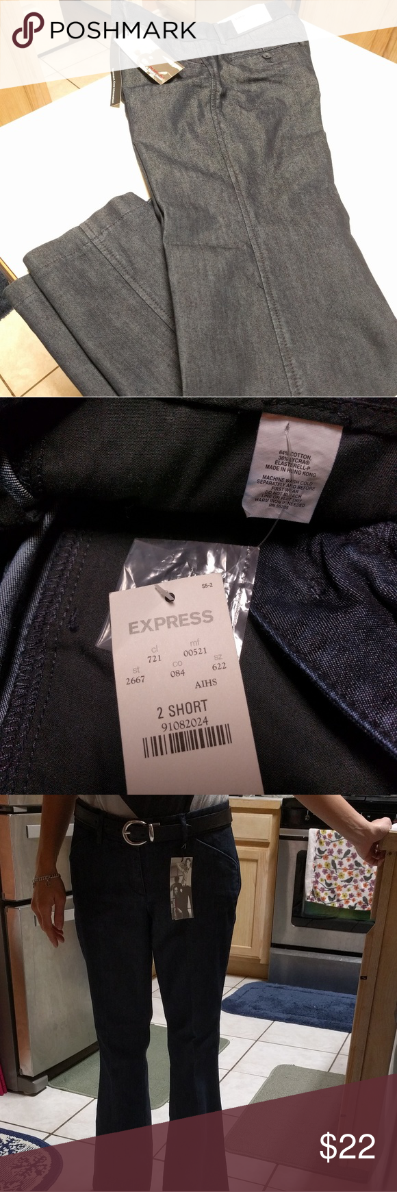NWT **EXPRESS** Slack Pants Low Rise Brand new with tag, size 2 Short, Paid $69.50, on sale now $41.00. It's very good deal with these pants. Offers are welcome. Express Pants Boot Cut & Flare