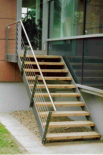 aussentreppe mit holz+va-hl+seilen 02 | treppen | pinterest, Moderne