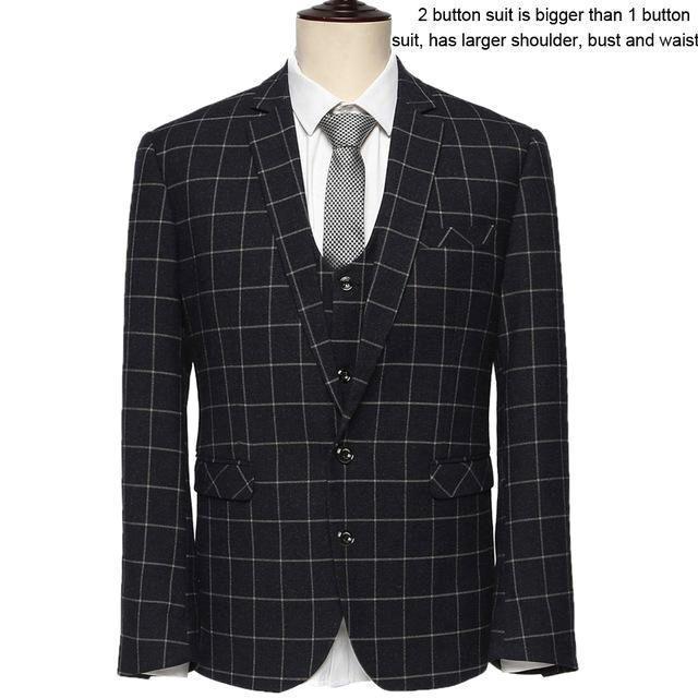 VIVISTAR Suit Combo Jackets+Pants+Vests
