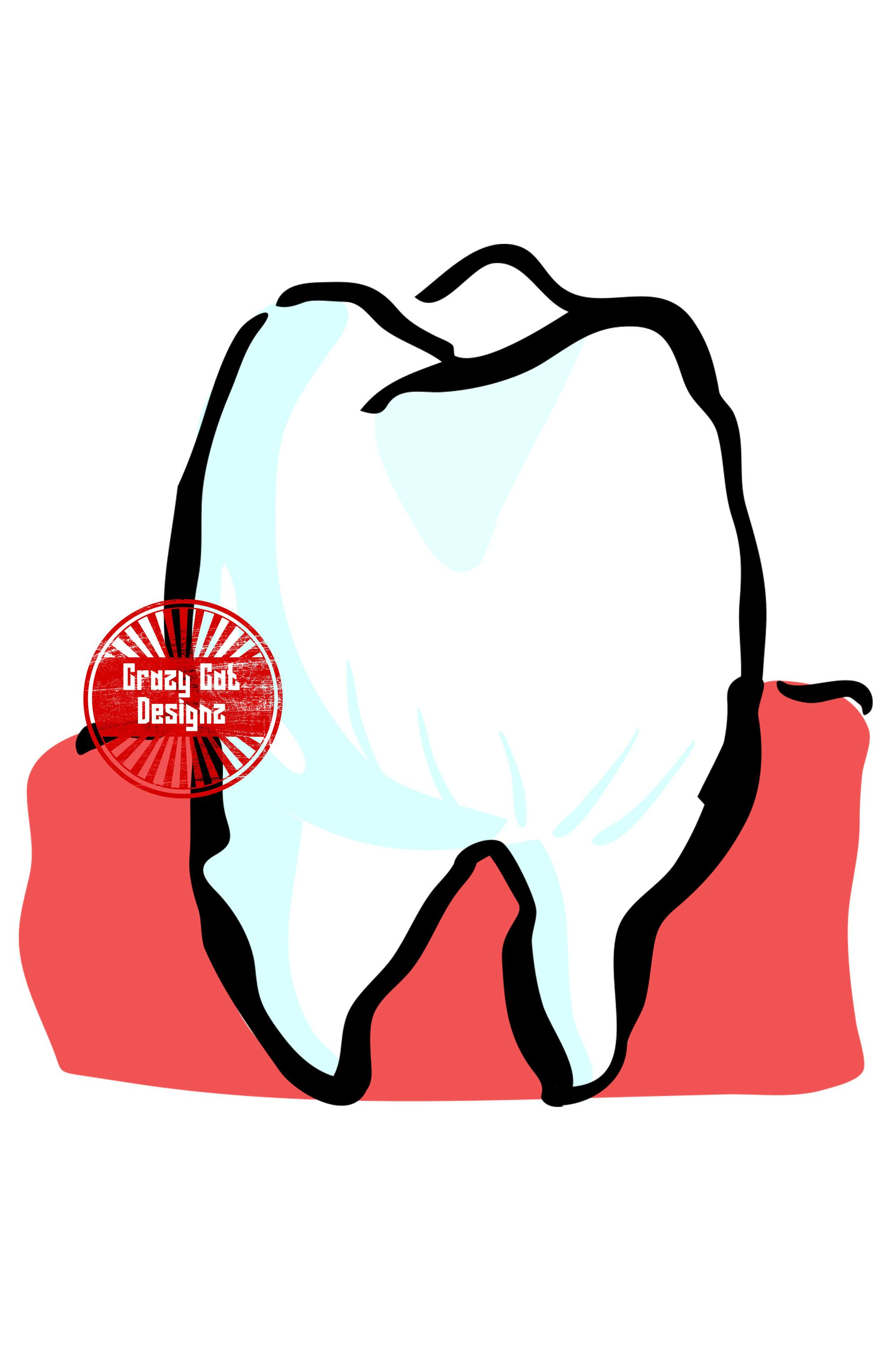 Tooth Silhouette Svg Png Jpg Clipart Vector Logo Etsy Digital Graphics Silhouette Svg Vector Logo