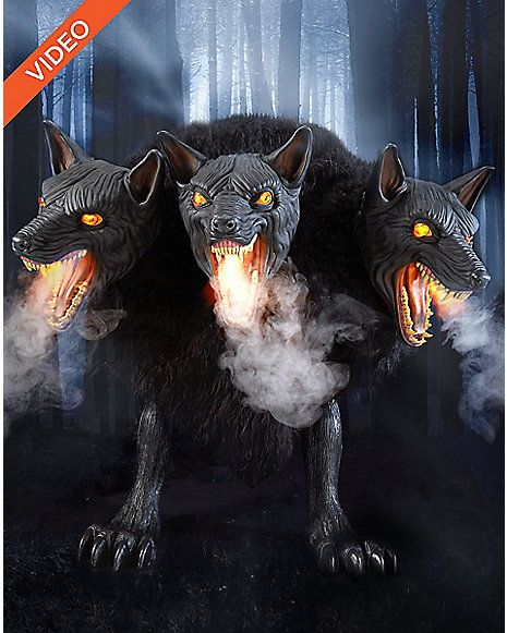 25 Ft Cerberus Three Headed Dog Animatronics - Decorations