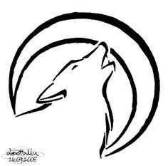 Easy Tattoo Designs Google Search Simple Wolf Tattoo Wolf Tattoos Wolf Drawing