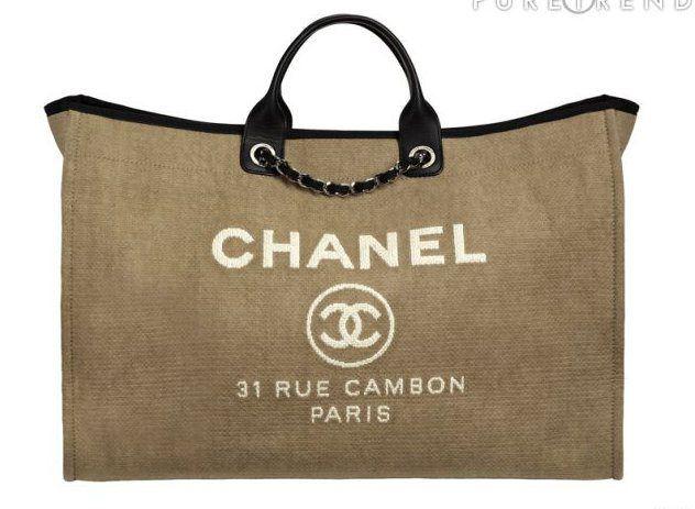 36b8da5cb Bolsos de imitación - Chanel de lona | Bags | Chanel handbags ...