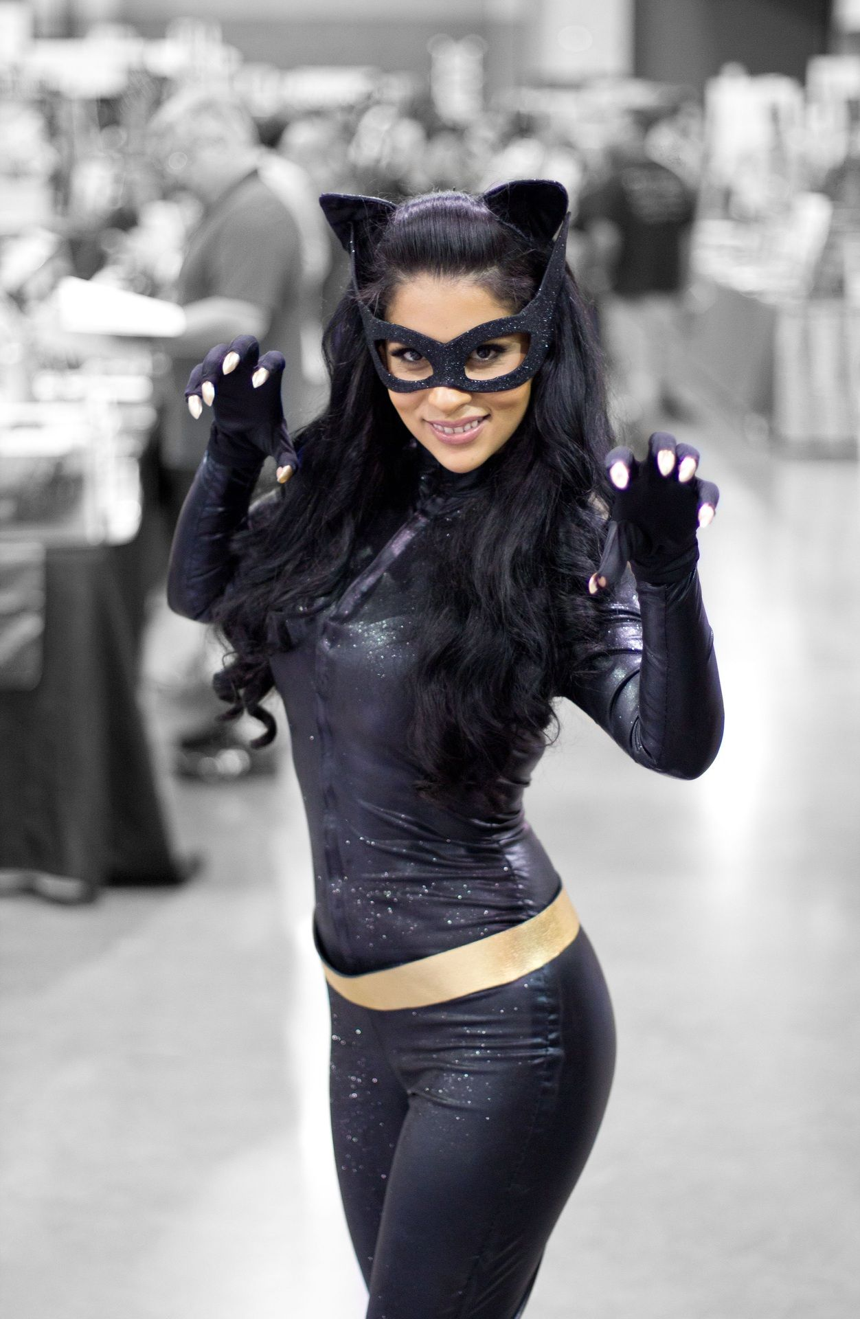 Batman And Catwoman Halloween Costumes.Me As 1960s Batman Movie Catwoman Halloween Costumes Girl