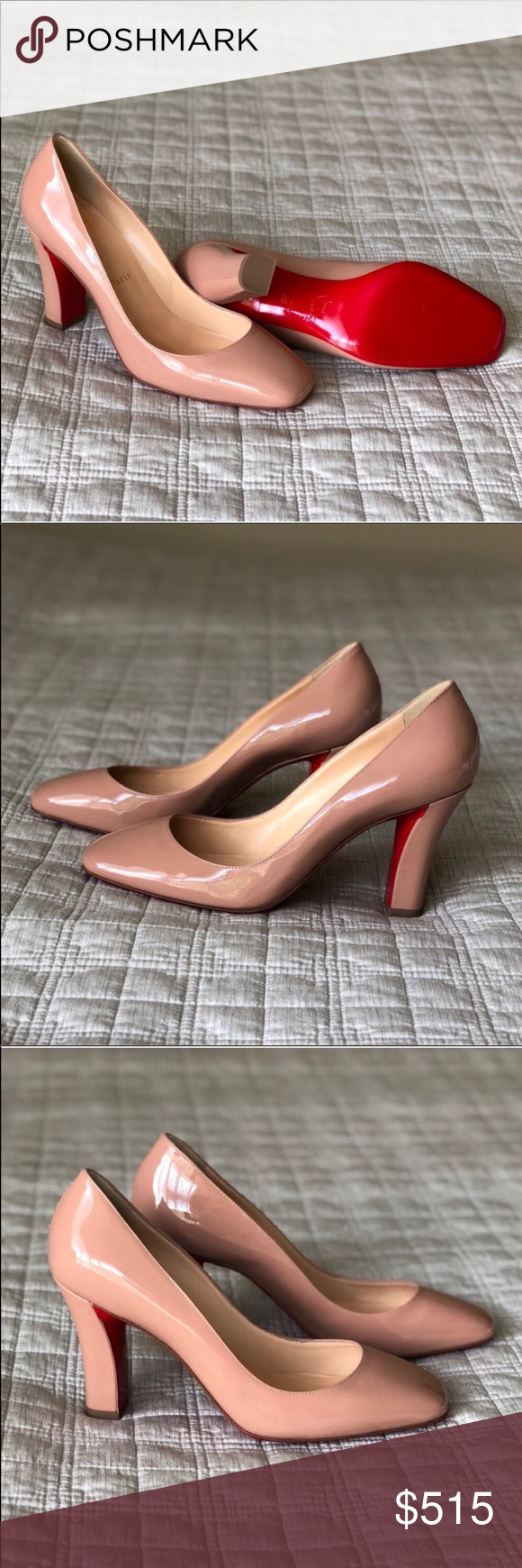 0a6aa2a989d 100% Authentic Louboutin Cadrilla Pump Patent Nude ♢ AUTHENTIC Christian  Louboutin Cadrilla Pumps ♢