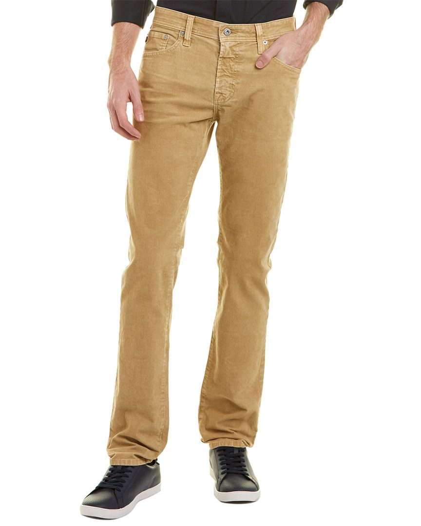 a363659df619b AG THE MATCHBOX SULFUR SILICA SAND CORDUROY SLIM STRAIGHT LEG.  ag  cloth