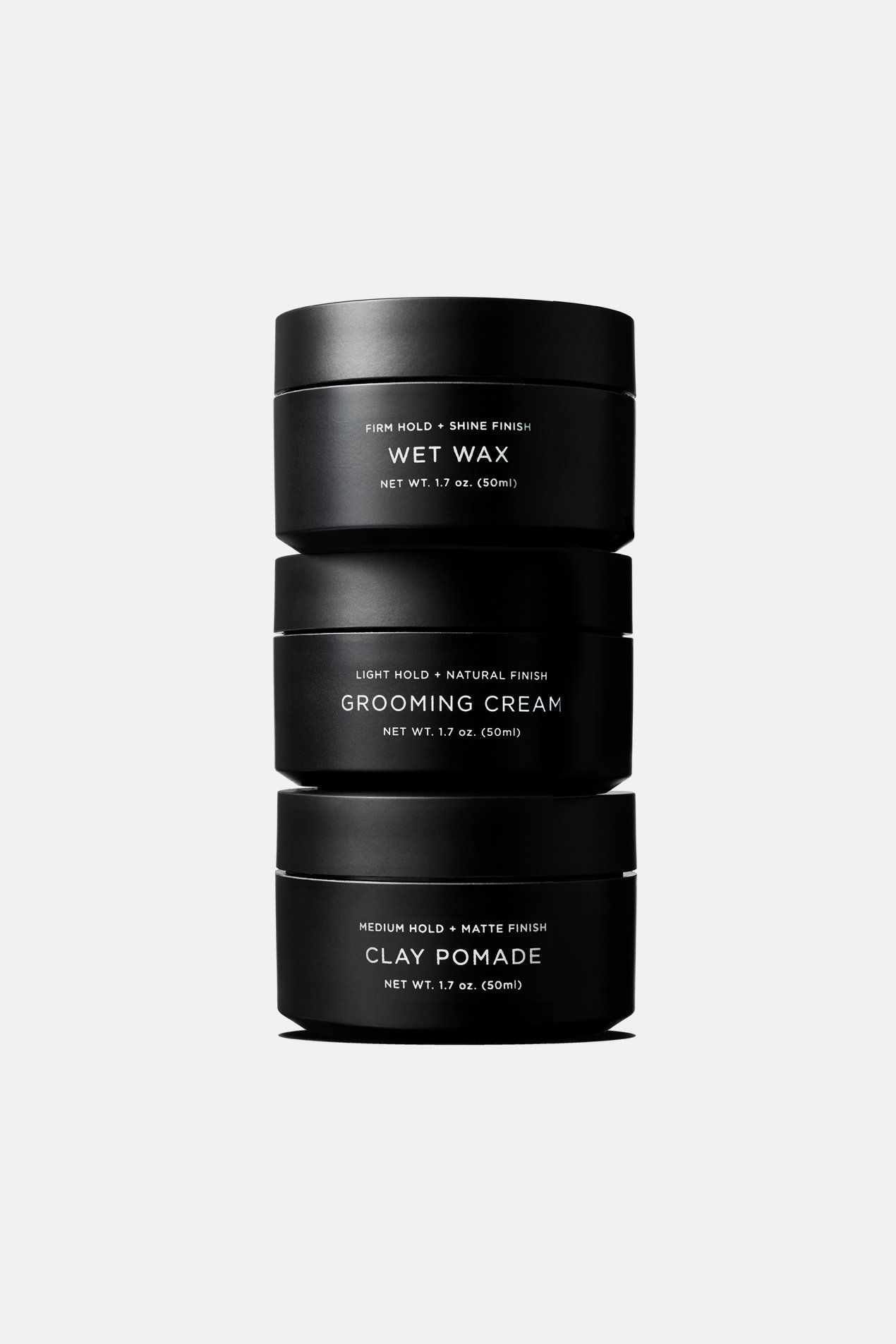 Pomade Trio One Of Each Pomade Saturdays Nyc Pomade Packaging Cosmetic Packaging Design Cosmetic Packaging
