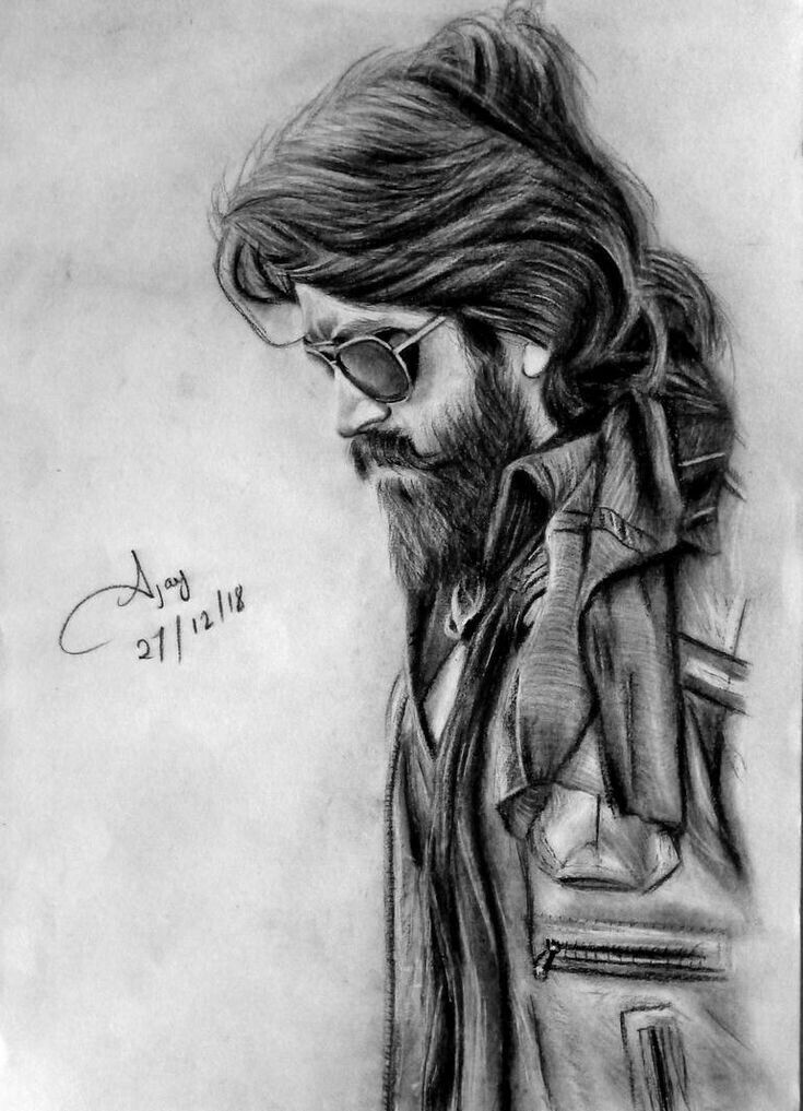 K G F Rocking star yash, kgf, draw, kgf, new in 2020 (With ...