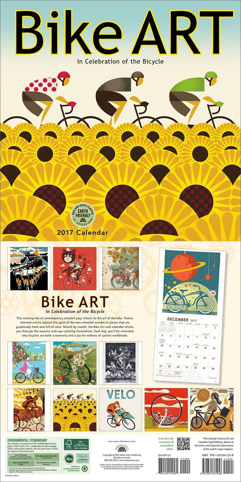 Bike Art 2019 Wall Calendar   Bike art