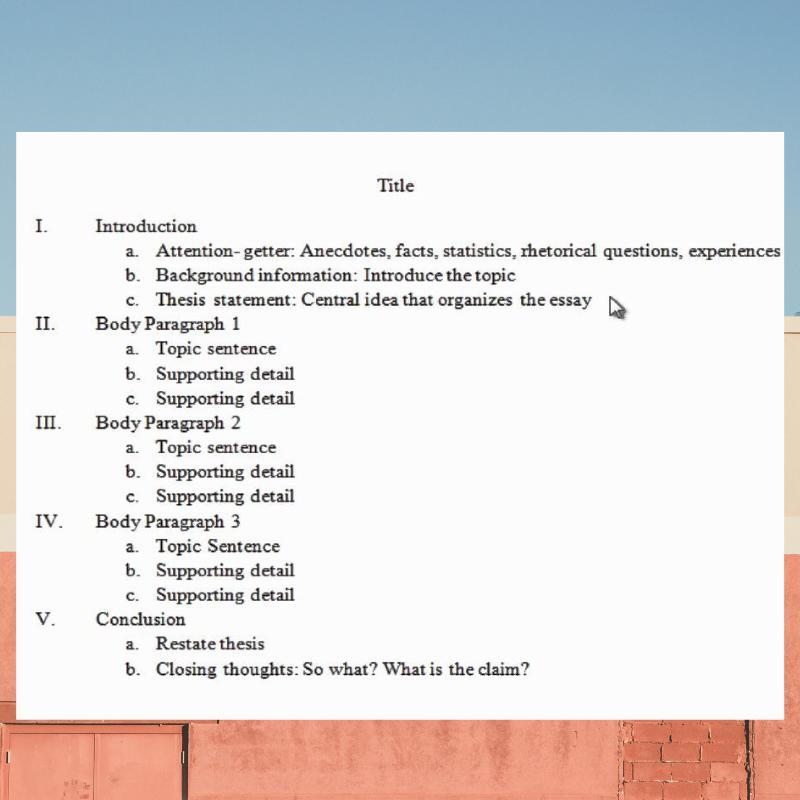 Essay Outline Template College Essay Outline Template Essay Essay Outline