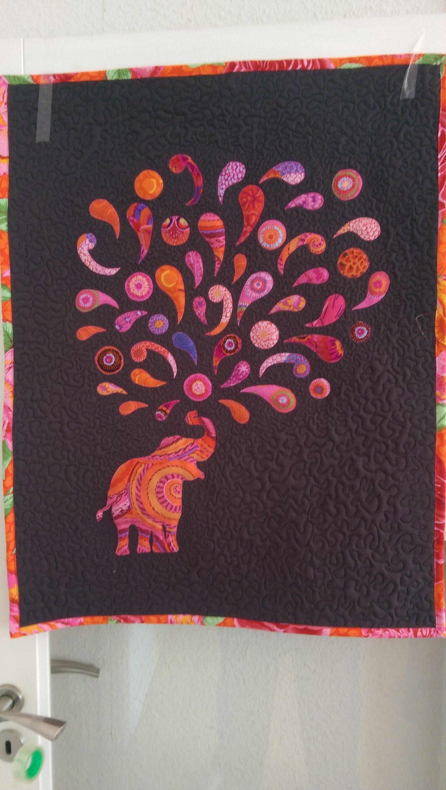 My Own Way Of Making The Paisley Splash Elephant Quilting Jpg 1520x2688