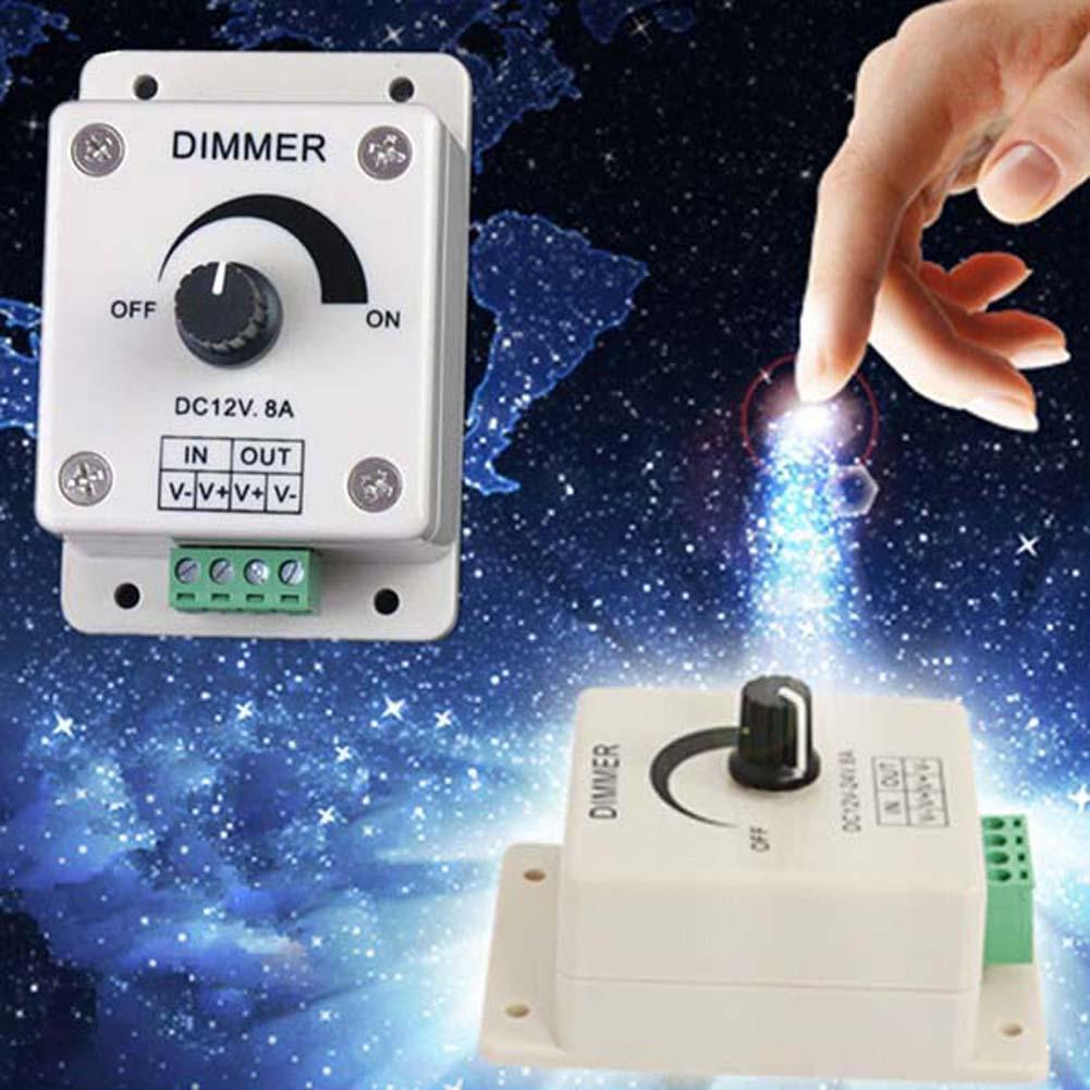 2 12 Dc 12v 8a Light Dimmer Brightness Control For Single Color Led Strip En Ebay Home Garden