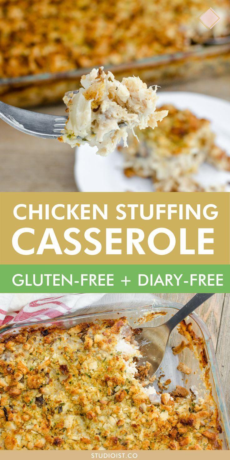 Gluten-Free, Dairy-Free Chicken + Stuffing Casserole — STudioist
