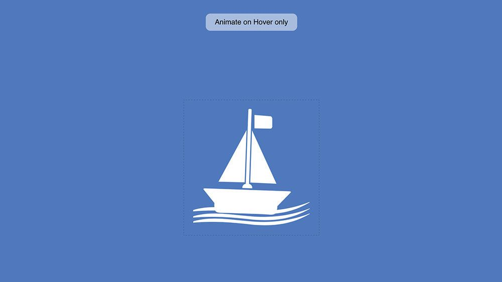 A beautiful CSS+SVG only, animated floating SVG boat