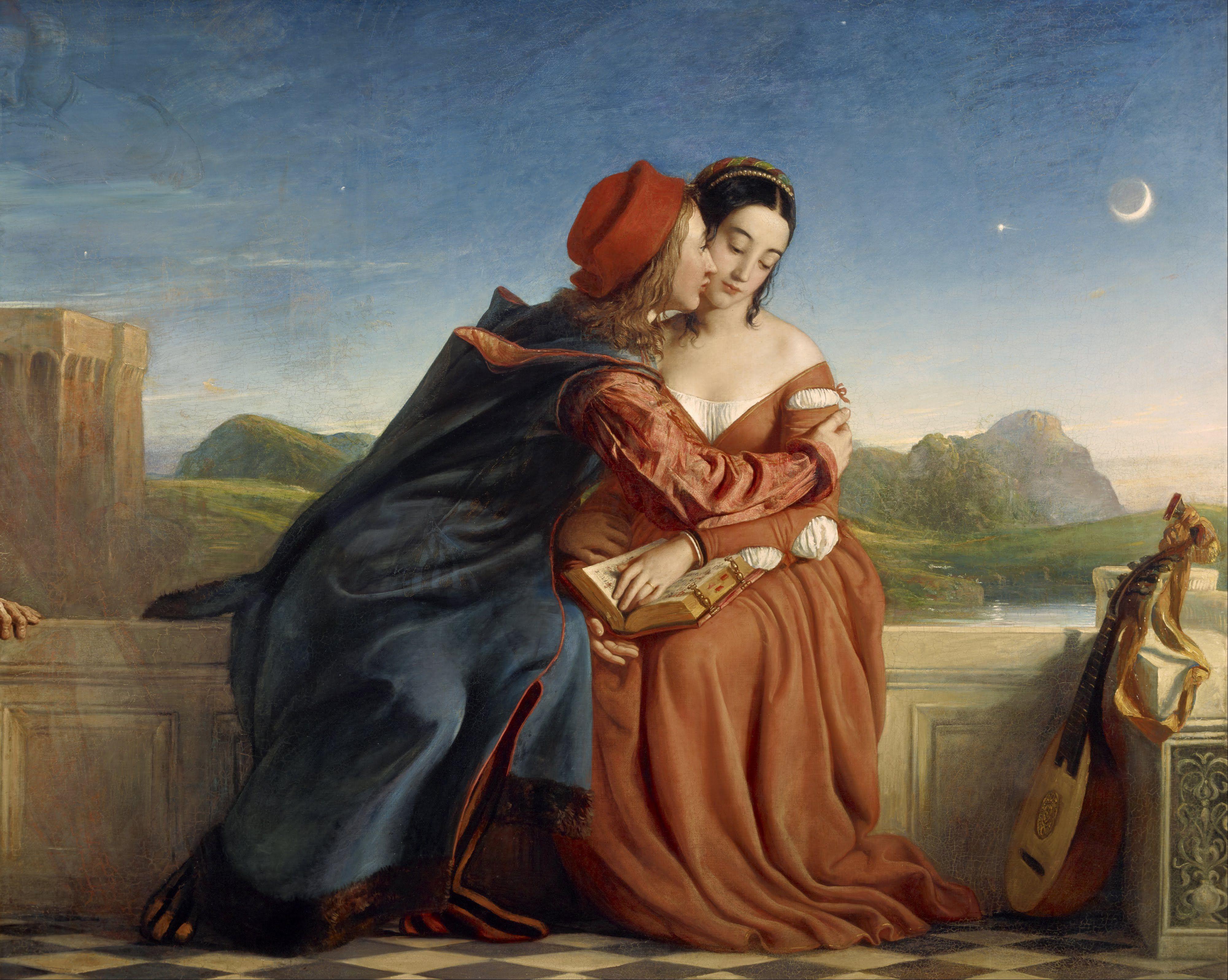 Francesca de Rimini y Paolo Malatesta, 1837, del pintor escocés William Dyce