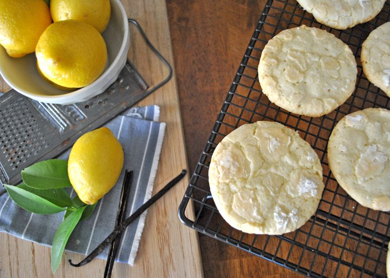 Vanilla Bean Lemon Crinkle Cookies | Sinister Sweet Shop