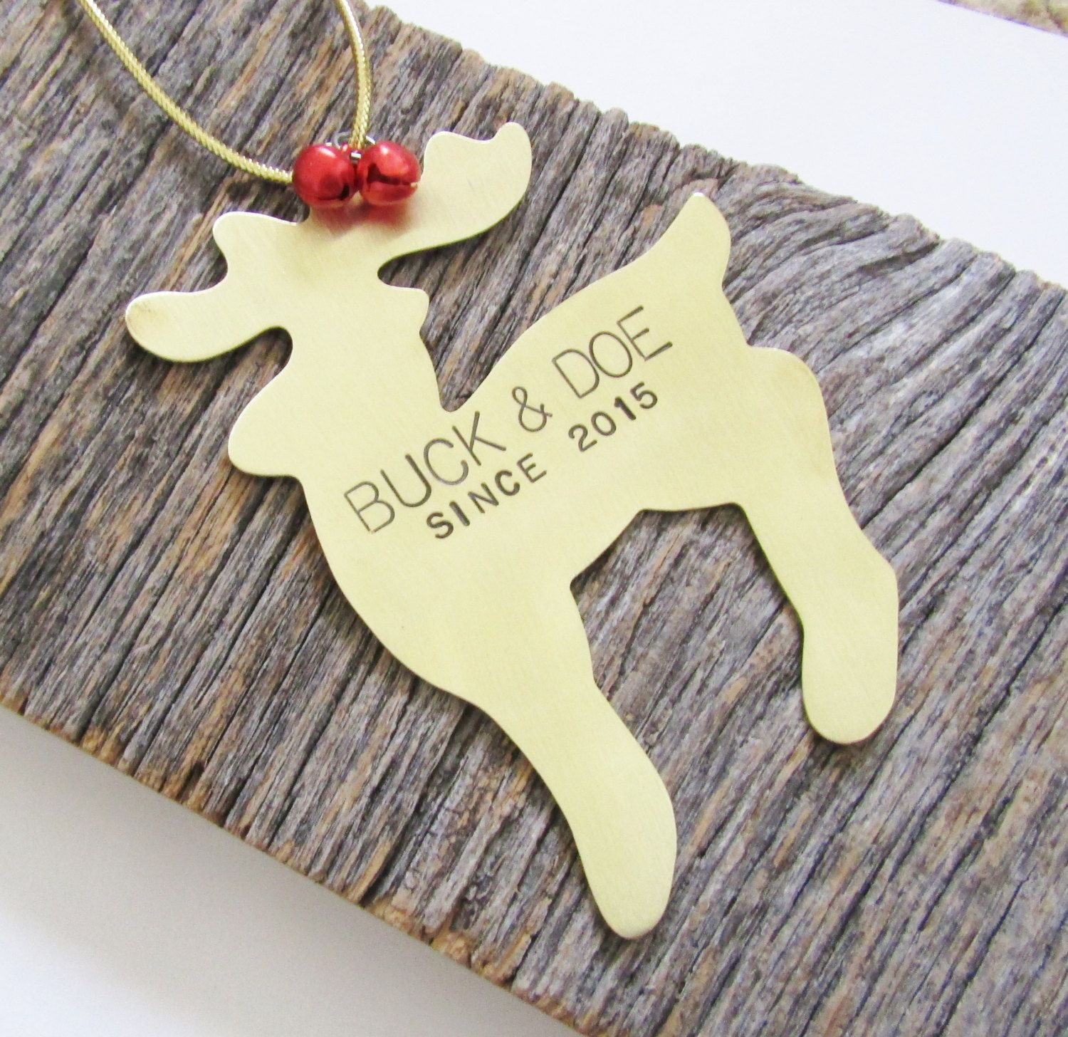 Newlywed ornament - Mr And Mrs Ornament Christmas Ornament Wedding Ornament Mr And Mrs Christmas Ornament Personalized Newlywed Buck And Doe Since 2017 Family
