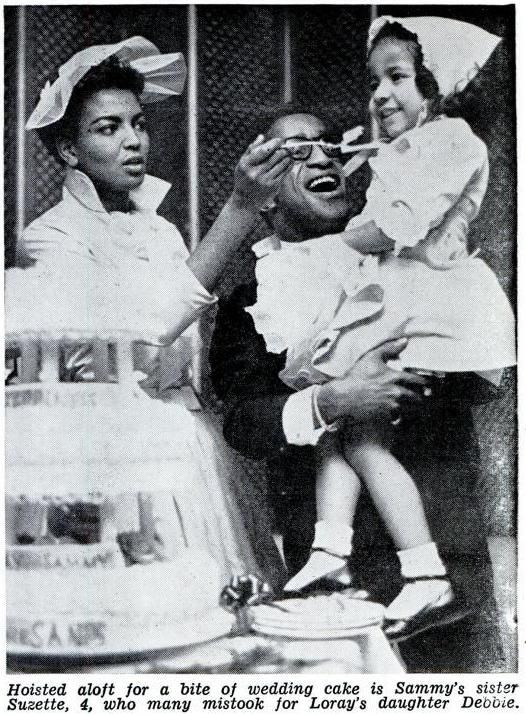 Sammy Davis Jr  & wife Loray White w/ Sammy's little sister Suzette