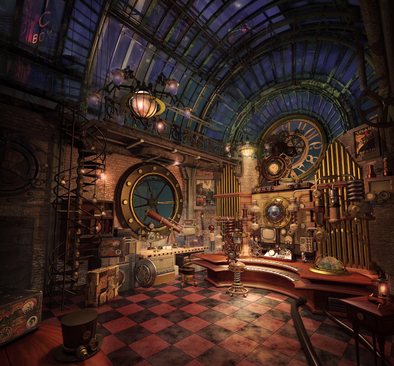 Steampunk Electro Organ By Giovani Magana Steampunk 3d: steampunk interior