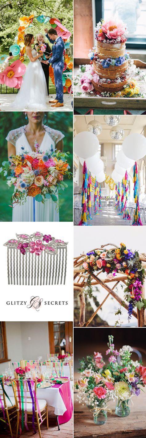 Multi Coloured Ideas For A Rainbow Wedding Wedding Pinterest