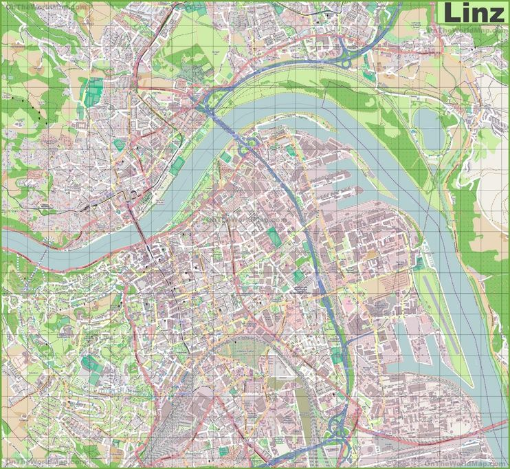 Large detailed map of Linz Maps Pinterest Austria and City