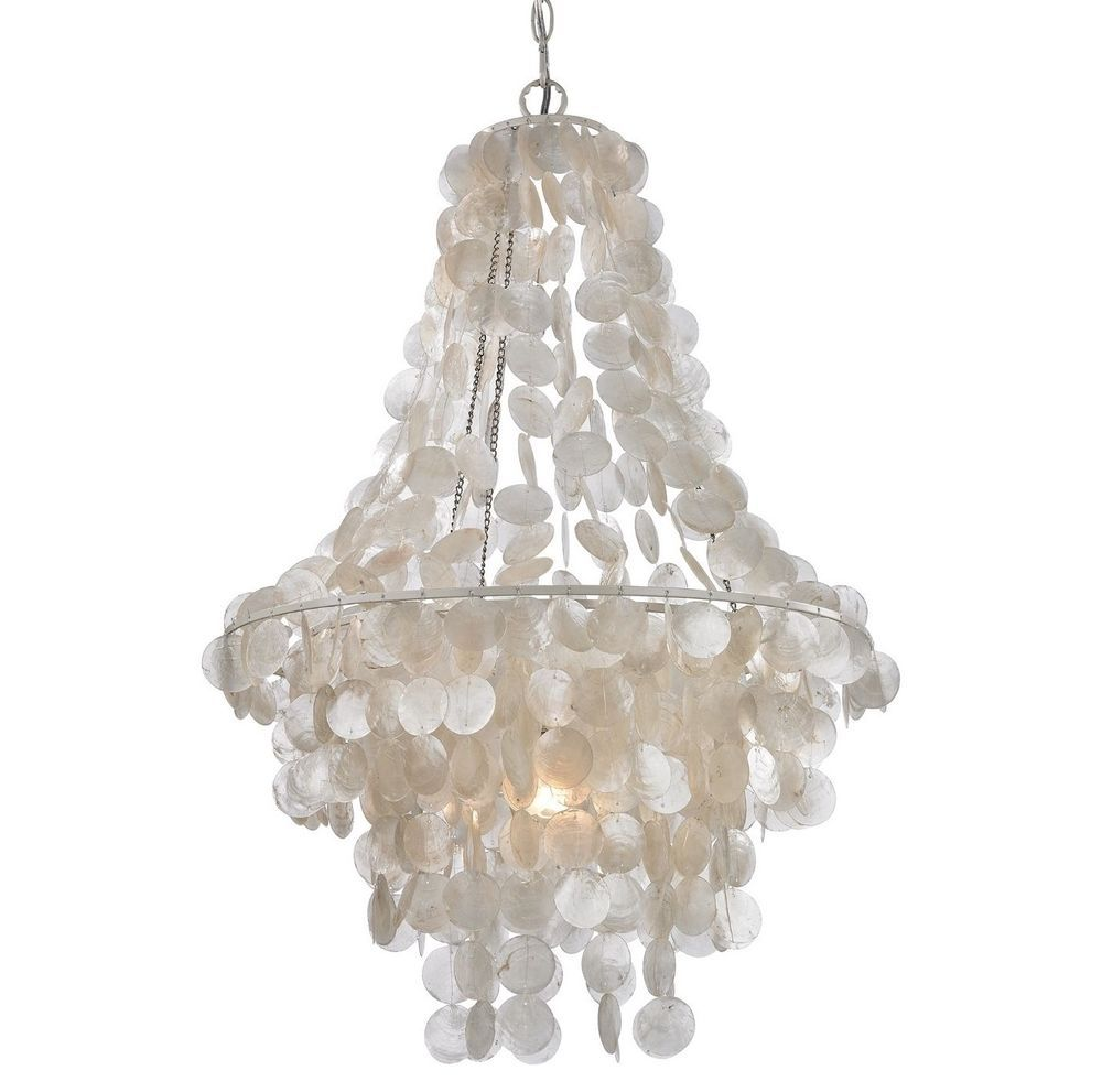New Capiz Shell Chandelier Pendant Mother Of Pearl Shabby Chic