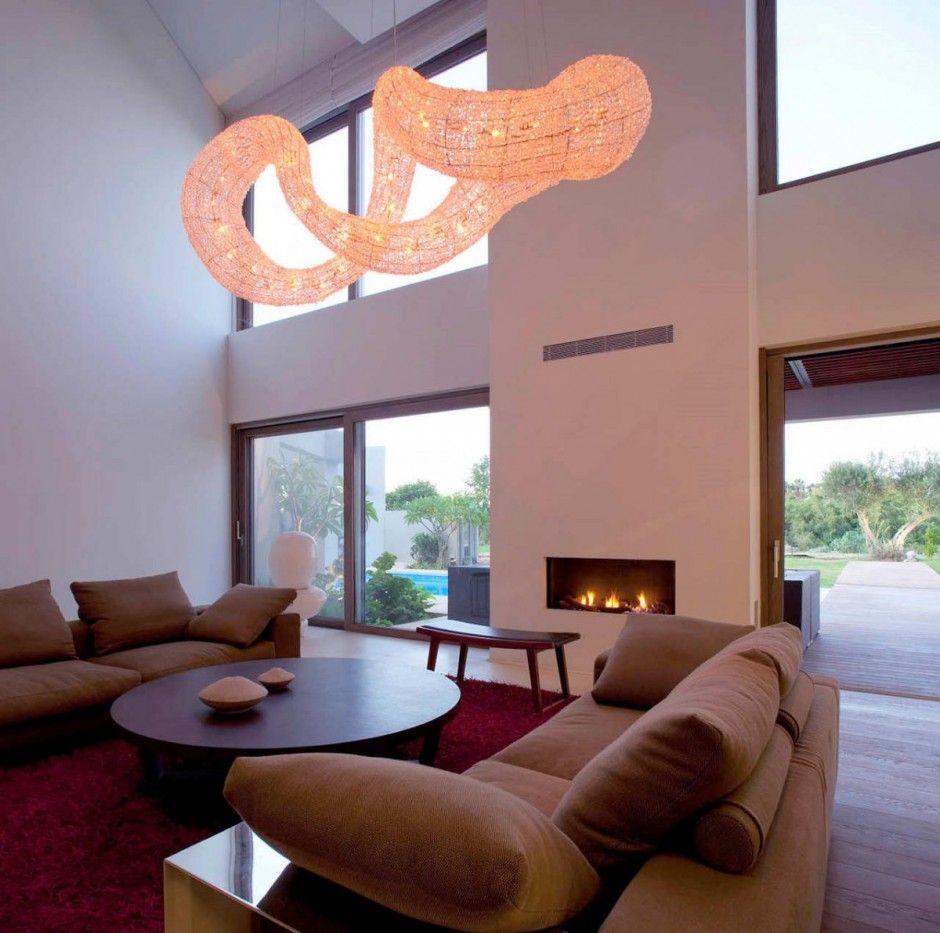 sculptural light fixture | residential interiors | Pinterest